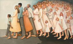"""Us with them and them with us"" by Caitlin Connolly. Would be cool for over by the family history center. Jesus Art, Jesus Christ, Savior, Spiritual Paintings, Lds Art, Sacred Art, Love Painting, Kirchen, Religious Art"