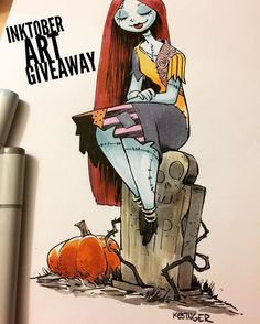 To celebrate reaching 190,000 followers on Instagram I am raffling off this original #sally #inktober sketch. To enter, just share this image and be sure to write #briankesinger in the comment. Tell your friends and help spread the word. Thank you everyone for supporting my work!  The winner will be announced tomorrow!