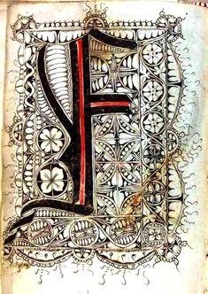 Gregorius Bock. Scribal pattern book  (Swabia). ca. 1510-1517. Via Yale U. Typography - Alphabet - Medieval