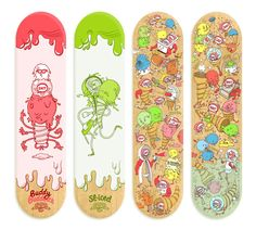 Ice cream inspired skateboard art