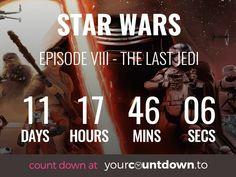 Countdown To Star Wars Episode VIII - The Last Jedi Release Date
