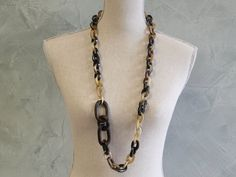Horn and Wood links bracelet.