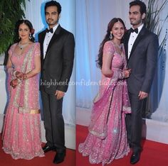 In a Rocky S lehenga, Esha looked radiant and happy at her reception. Our best to the couple! Esha Deol And Bharat Takhtani At Their Wedding Reception Esha Deol And Bharat Takhtani Photo Credit: Viral Bhayani Read More. Guilt-free.Sangeet StyleIn Threes- Part DeuxIn ThreesWedding Style