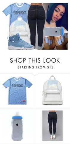 """""""Blue✨"""" by jayythegreatest ❤ liked on Polyvore featuring Forever 21 and NIKE"""