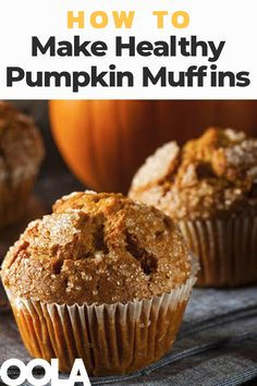 How To Make A Delicious, Healthy Pumpkin Muffin - - Want to embrace this glorious autumnal season without all the calories? Enter our healthy version of a fall favorite, delicious pumpkin muffins. Pumpkin Oatmeal Muffins, Pumpkin Cream Cheese Muffins, Pumpkin Muffin Recipes, Pumpkin Chocolate Chip Muffins, Healthy Pumpkin Recipes, Chocolate Chips, Streusel Muffins, Simple Muffin Recipe, Vegan Pumpkin