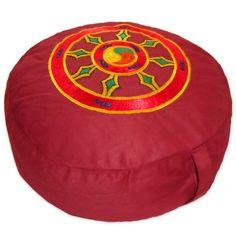Meditationskissen + Yogakissen YogiStick® Dharmarad red ø 33 cm