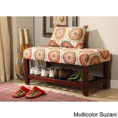 Add multi-functional style to your home with this cocktail bench. This statement piece comes in two bright fashion patterns and can be used as a bench, coffee table, cocktail table or simply as a decoration.