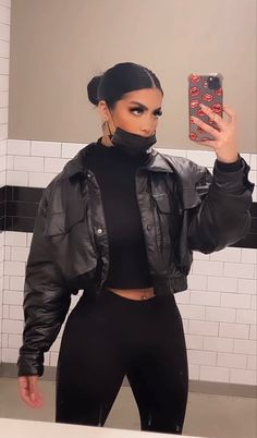 Baddie Outfits Casual, Cute Casual Outfits, Stylish Outfits, Winter Fashion Outfits, Look Fashion, Fall Outfits, Black Outfits, Mode Kylie Jenner, Mode Hipster