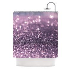 "Debbra Obertanec ""Lavender Sparkle"" Purple Glitter Shower Curtain $69"