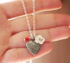 Personalized Heart Picture Locket Girls Heart by MadiesCharms