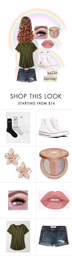 """""""Hello spring hello world"""" by jesca27 on Polyvore featuring NIKE, Converse, NAKAMOL, tarte, American Eagle Outfitters and Hollister Co."""