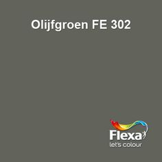 Flexa Expert kleur Olijfgroen FE 302 Wall Colors, Paint Colors, Living Colors, Chill Room, Vintage Caravans, Pallet Painting, Gold Wood, Home Reno, Color Pallets
