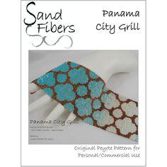Dramatic Ruffles Peyote Cuff Bracelet 2414 A Sand by SandFibers
