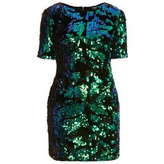 TOPSHOP Sequin Velvet Dress (€41) ❤ liked on Polyvore featuring dresses, topshop, vestidos, short dresses, multi, velvet mini dress, green dress, green mini dress, sequin dress and green sequin dress