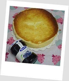Tarta de queso y limón con arándanos
