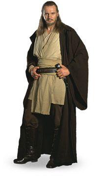 Liam Neeson as Jedi Master Qui-Gon Jinn. Jedi Cosplay, Jedi Costume, Star Wars Cast, Star Wars Jedi, Liam Neeson, Obi Wan, Star Wars Characters, Star Wars Episodes, Stargate