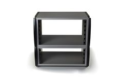 ZAOR MIZA Desktop Racks come in three sizes (2, 4 or 6 rack units) as well and complement the series with some further rackspace for 19″ rack-able gear.