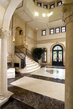 Entry Foyers On Pinterest Foyers Grand Entrance And