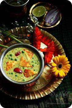 Nawabi creamy curry with peas and capsicum