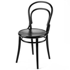 TON Coffee Shop Chair varnished black   Furniture