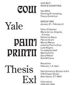 Yale— Graphic Design