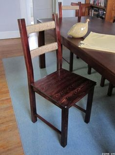 ivar chair ikea hack - cool idea to do with burlap instead of twine