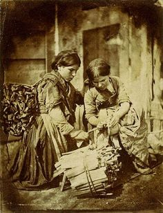Two (Scottish) Girls Binding Wood, ca. 1850 | In the Swan's Shadow