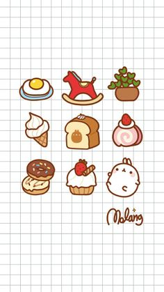 Super New Wallpaper Iphone Backgrounds Icons 33 Ideas Chibi Kawaii, Kawaii Doodles, Cute Doodles, Kawaii Art, Cute Food Drawings, Cute Kawaii Drawings, Easy Drawings, New Wallpaper Iphone, Kawaii Wallpaper
