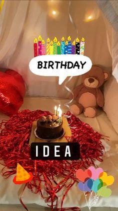 Red Birthday Party, Bff Birthday, Happy Birthday Wishes, Birthday Quotes, Birthday Decorations At Home, Birthday Party Decorations, Birthday Gifts For Boyfriend Diy, Happy Birthday Wallpaper, Diy Crafts For Gifts