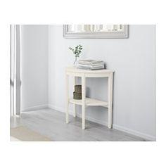 IKEA - ARKELSTORP, Sivupöytä, valkoinen, , Massiivipuuta, kestävää luonnonmateriaalia.Erillisen hyllyn ansiosta esim. lehdet on helppo pitää järjestyksessä ja pöytä siistinä.