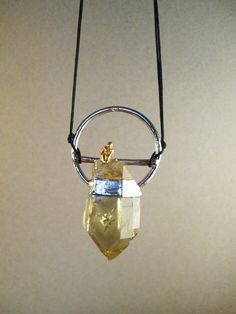 Vista smoky quartz pendant electroformed by AurumgirlStudio