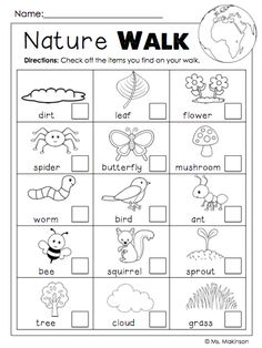 FREEBIE! Earth Day Printables - Nature Walk Scavenger Hunt. Repinned by SOS Inc. Resources pinterest.com/sostherapy/.