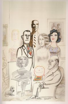 Saul Steinberg: Illuminations by Joel Smith. Yale UP, [All Steinberg images © The Saul Steinberg Foundation/Artists Rights Society (ARS), NY. Saul Steinberg, The New Yorker, Art And Illustration, Art Sketches, Art Drawings, Gravure, Art Plastique, Caricature, Collage Art