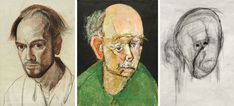 Artist William Utermohlen was diagnosed with Alzheimer's disease.before his death in created a heart-wrenching final series of self-portraits over a roughly period documenting the gradual decay of his mind due to this crippling disease. Creative Arts Therapy, Art Therapy Activities, Face Photography, Encaustic Painting, Portraits, Wood Engraving, Linocut Prints, Bored Panda, American Artists