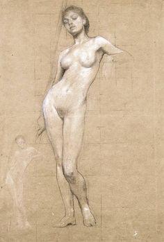 Herbert James Draper, nude study