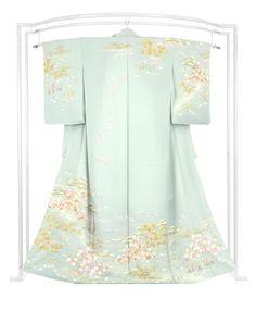 ◎優彩、気品に華やぐ… 正絹手加工訪問着 「花の苑」 |京都きもの市場
