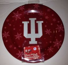 IU Indiana University Holiday Snowflake Team Plates 4 Set Forever Collectibles  | eBay