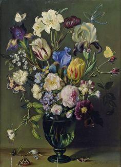 Pieter Huys (18th century) - Flower still life, oil on panel