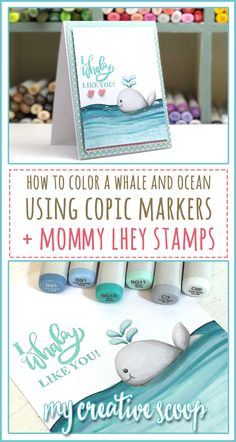 How to color a Whale using Copic Markers