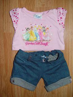 Build a Bear Clothes Outfit Disney Princess Shirt w/ Sparkling Capri Jeans Disney Princess Shirts, My Princess, Disney Princesses, My Life Doll Accessories, Bear Clothing, Build A Bear Outfits, Taking New York, Friend Outfits, Capri Jeans