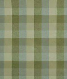 Robert Allen Big Plaid Aloe Fabric