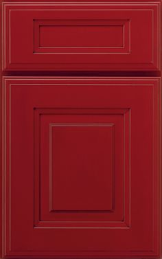 I'm in love with red kitchen cabinets!
