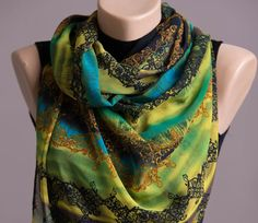 Summer Scarf,Spring Scarf,Infinity Scarf,Chiffon Scarf,Lightweight,Scarves For Women,Fashion Accessories,Womens Scarves,Gift For Her