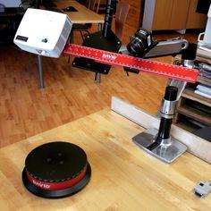 David SLS-2 3D-skannerin pöytäteline ja automaattinen pyörityspöytä nyt käytössämme.  #3dskannaus #3dskanneri #3dscanner #3dscanning #david