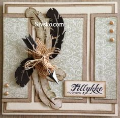Magnolia Fjer Fødselsdagskort på Sivsko.com