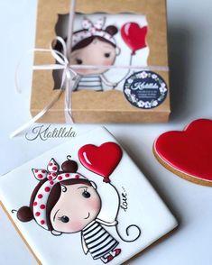 So flipping cute! Fancy Cookies, Heart Cookies, Iced Cookies, Cute Cookies, Cupcake Cookies, Sugar Cookies, Cupcakes, Sweet Cookies, Valentines Day Cookies