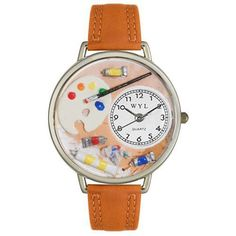 Artist Watch in Silver (Large)-Whimsical GiftsTop Notch Gift Shop
