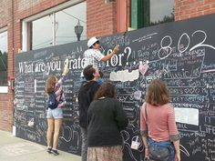 Public chalk board-what are you grateful for?