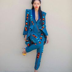 Lerato in our Ri.Ch Factory Goddess suit.  R2500  #richfactory #africanprint…