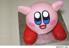 3D kirby cake.